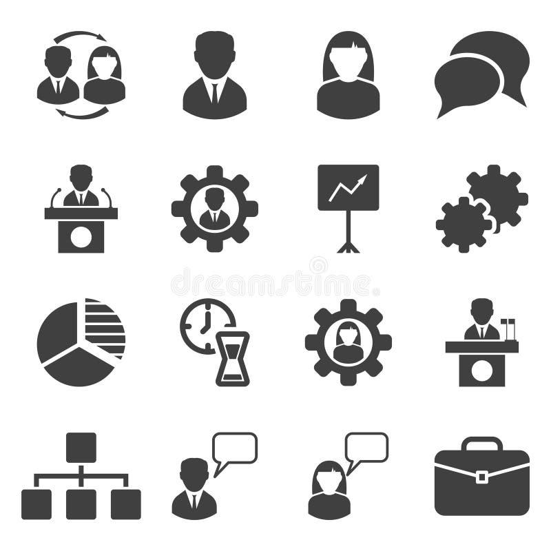 设置16个企业象 人们,图表,结构 E 库存例证