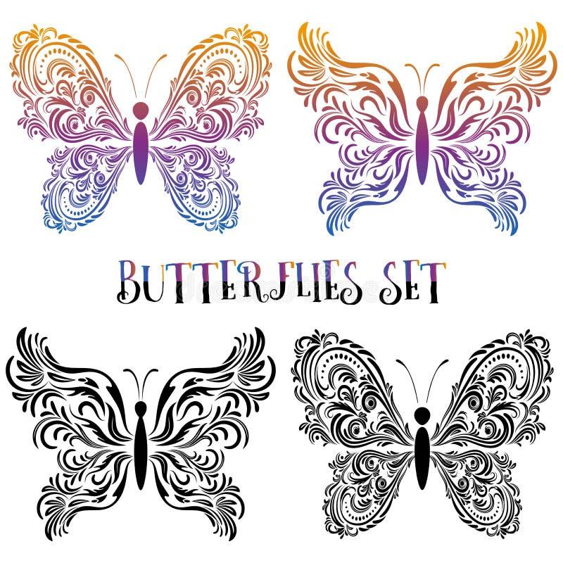 设置蝴蝶等高图表 库存例证