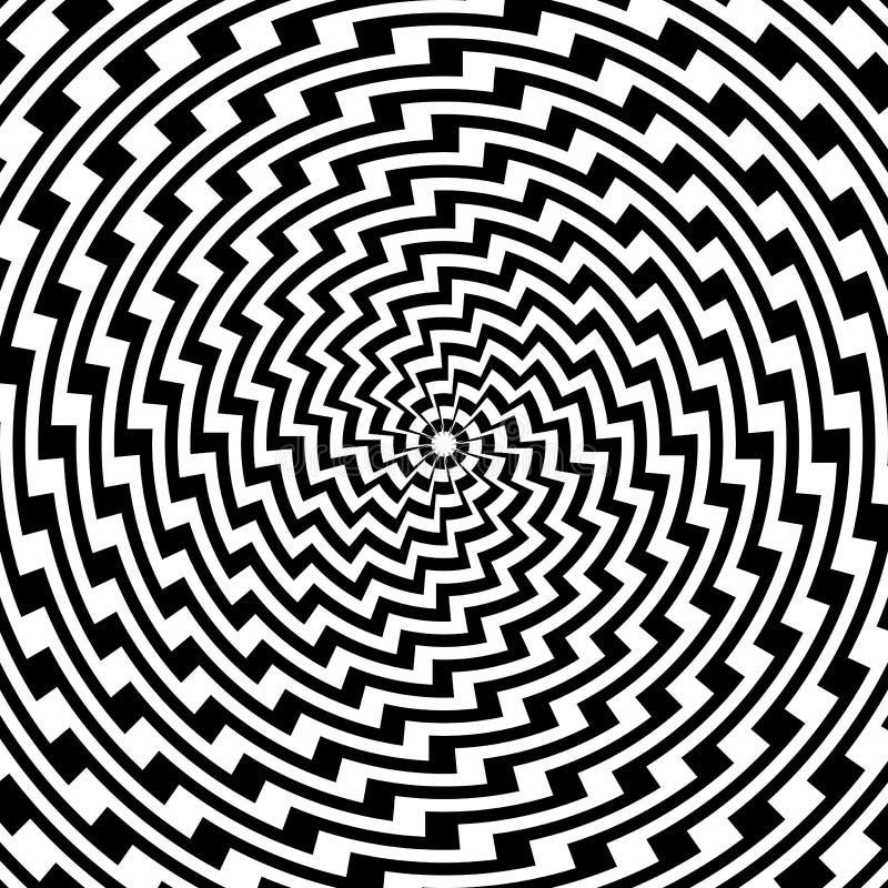 设计五颜六色的螺旋圆幻觉backgroun 向量例证
