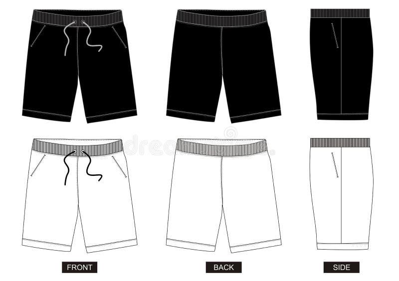 设计传染媒介模板人05的短裤汇集 库存例证