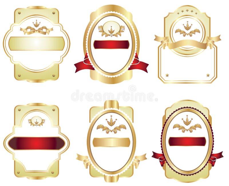 Download 设计元素集 向量例证. 插画 包括有 例证, 金子, 装箱, 安排, 背包, 滚动, 丝带, 叶子, 标签 - 22351778