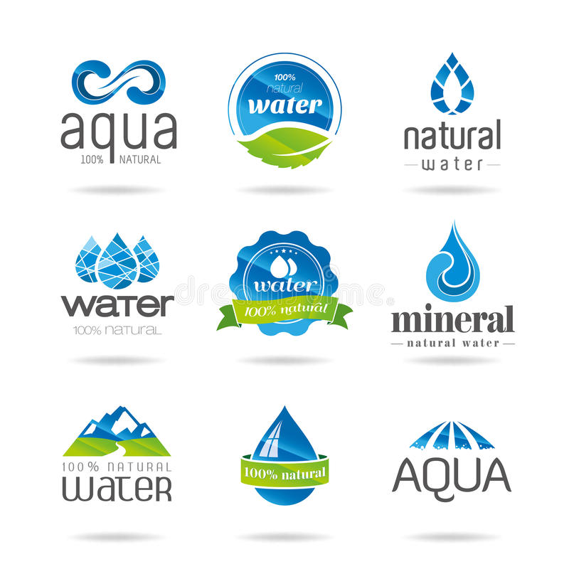 水设计元素。水象 向量例证