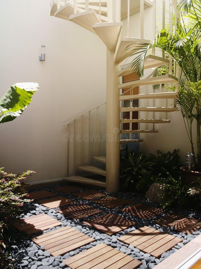 设计内部楼梯 库存图片