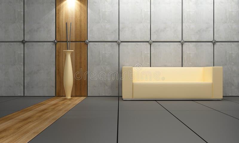 设计内部石木头 向量例证