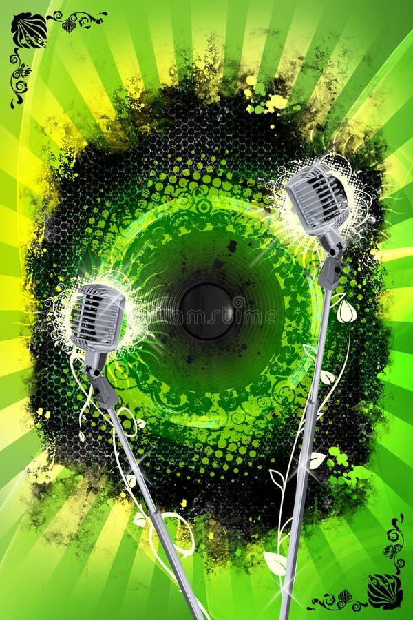 设计卡拉OK演唱 向量例证