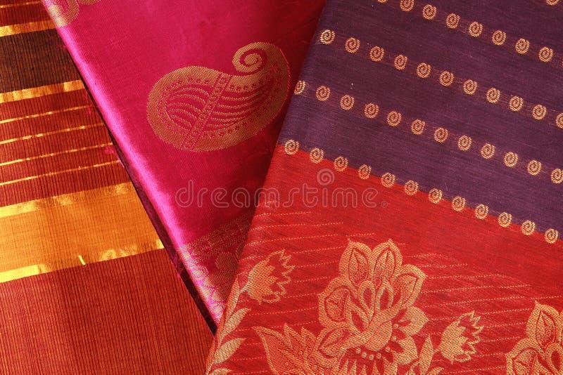 设计印地安人莎丽服 免版税库存图片