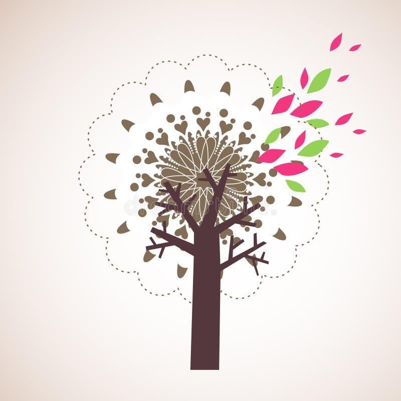 设计可爱的结构树 库存照片