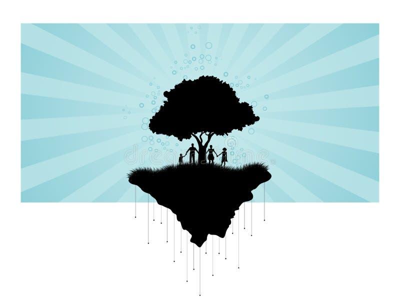 设计合并剪影纹理结构树使用 向量例证