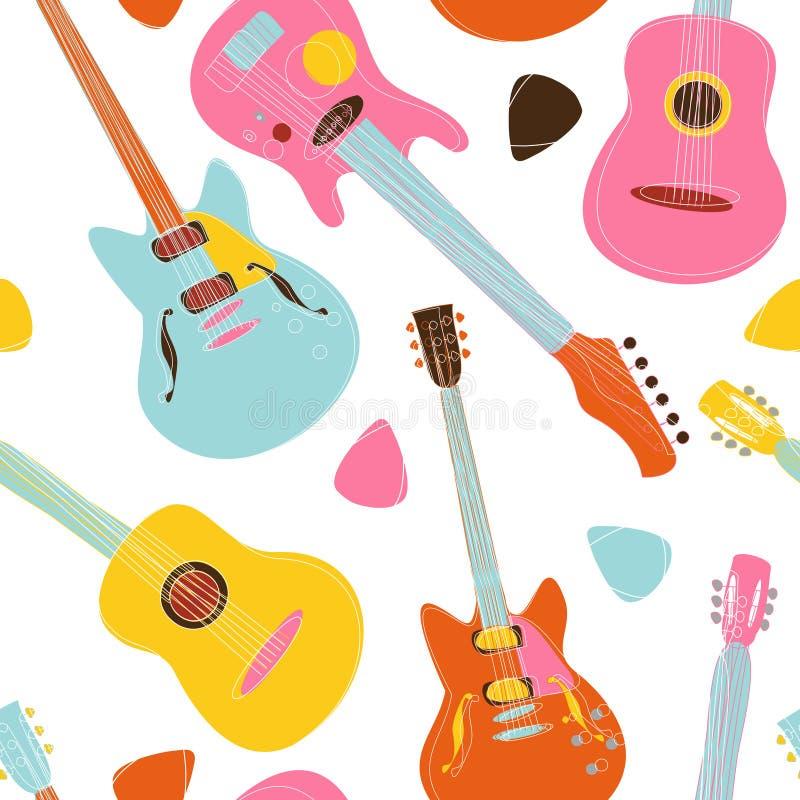 设计吉他模式 库存例证