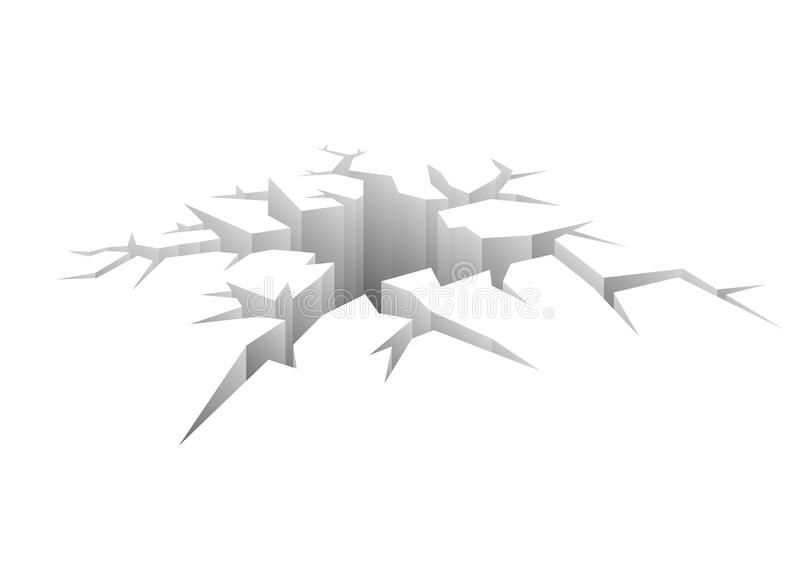 设计向量裂缝 皇族释放例证