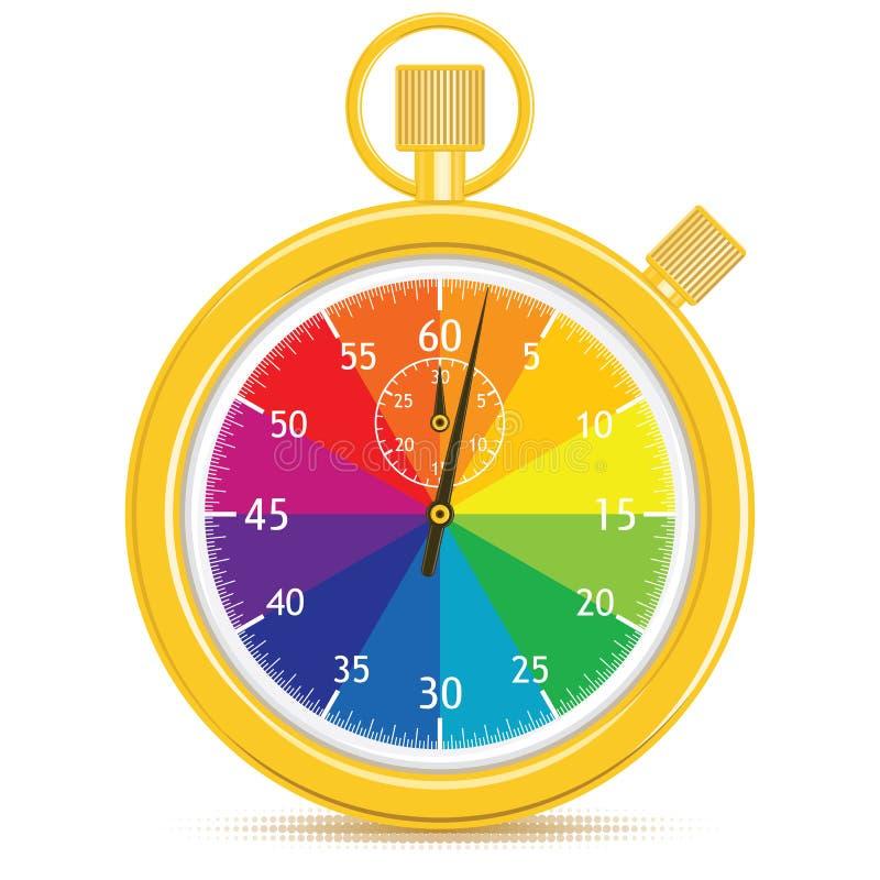 设计员s秒表 向量例证