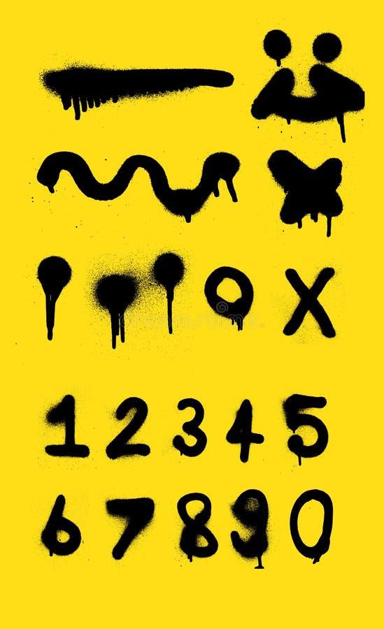 设计和数字喷漆背景的喷漆vecter 免版税库存图片