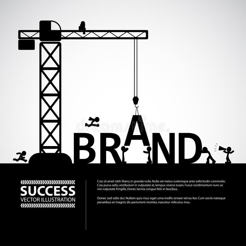 设计品牌大厦概念,传染媒介例证 库存例证