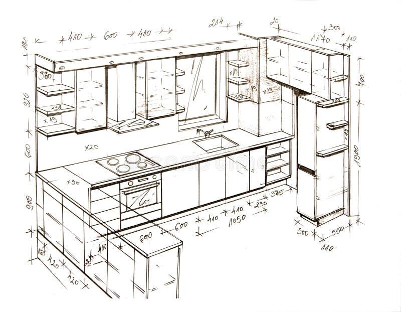 设计图内部徒手画现代 向量例证