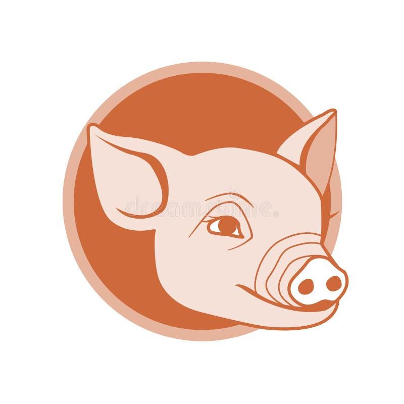设计图标猪 向量例证