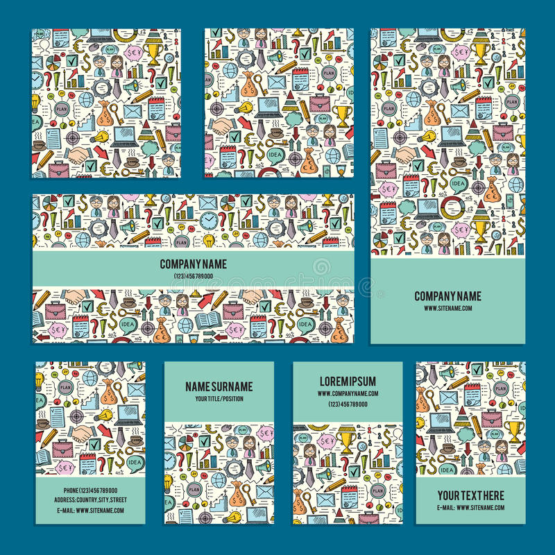 设计在企业题材的公司本体集合与抽象乱画 皇族释放例证