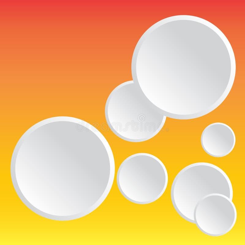 设计墙纸的摘要样式白色圈子背景 免版税库存照片
