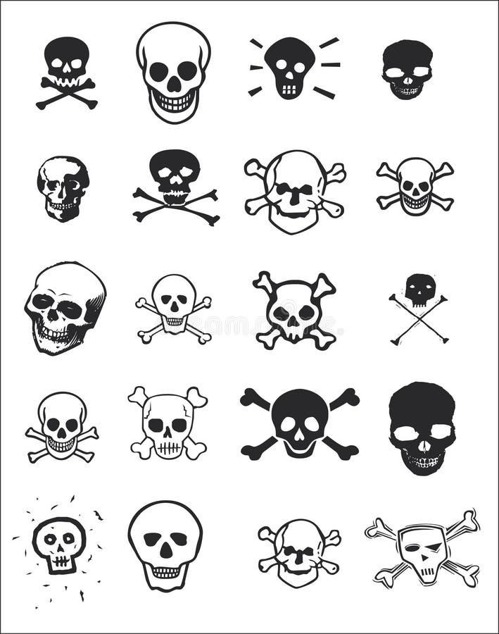 设计多种头骨 库存图片