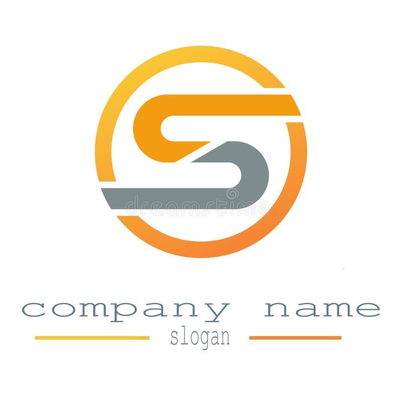 设计字母S商标模板 数据,事务 向量例证
