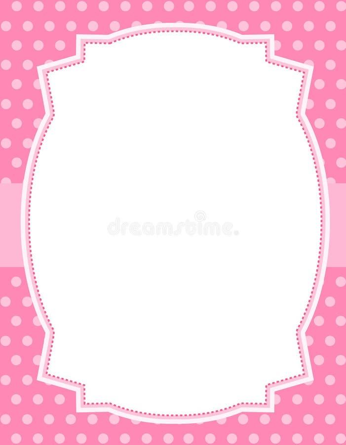 设计小点框架短上衣 向量例证