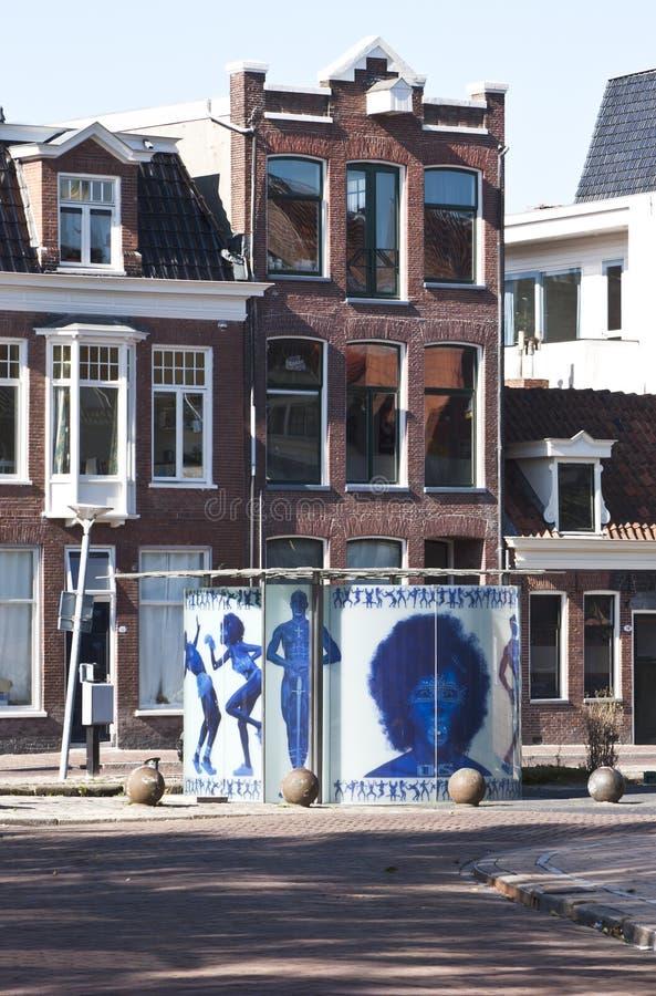 设计尿壶在格罗宁根在荷兰 免版税库存照片