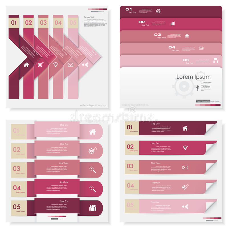 设计干净的数字横幅模板的汇集 向量 向量例证