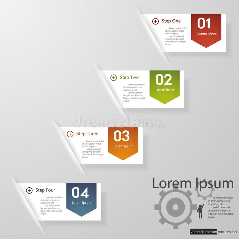 设计干净的数字横幅模板/图表或网站布局。 向量例证