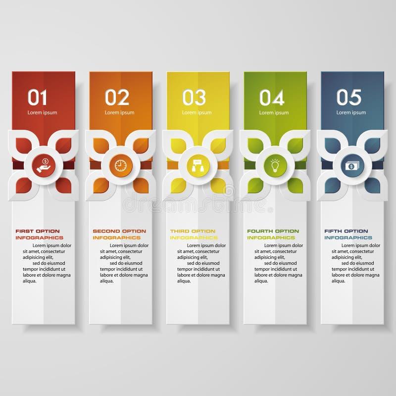 设计干净的数字横幅模板/图表或网站布局 传统泰国现代风格 向量例证