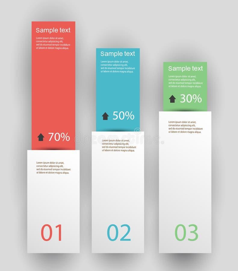 设计干净的数字横幅模板/图表或网站布局 皇族释放例证