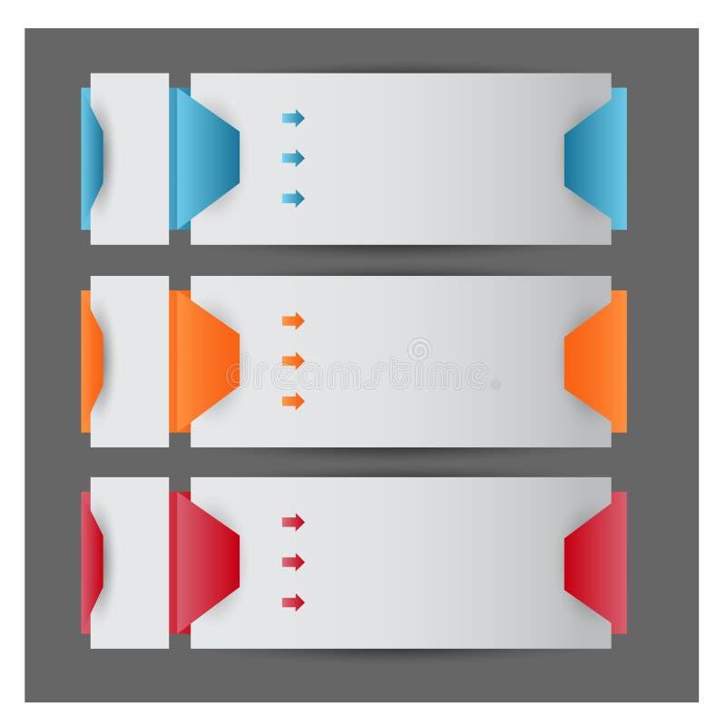 设计干净的横幅模板/图表或网站布局 免版税库存照片
