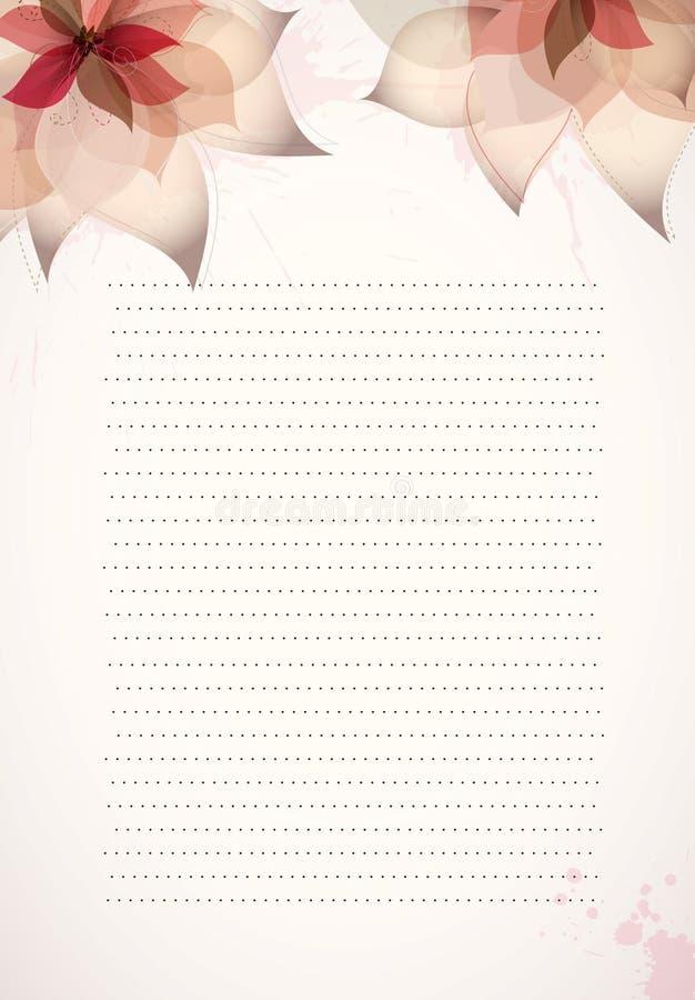 设计开花纸模板 皇族释放例证