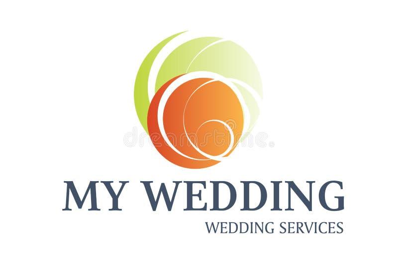 设计徽标为婚礼服务 向量例证
