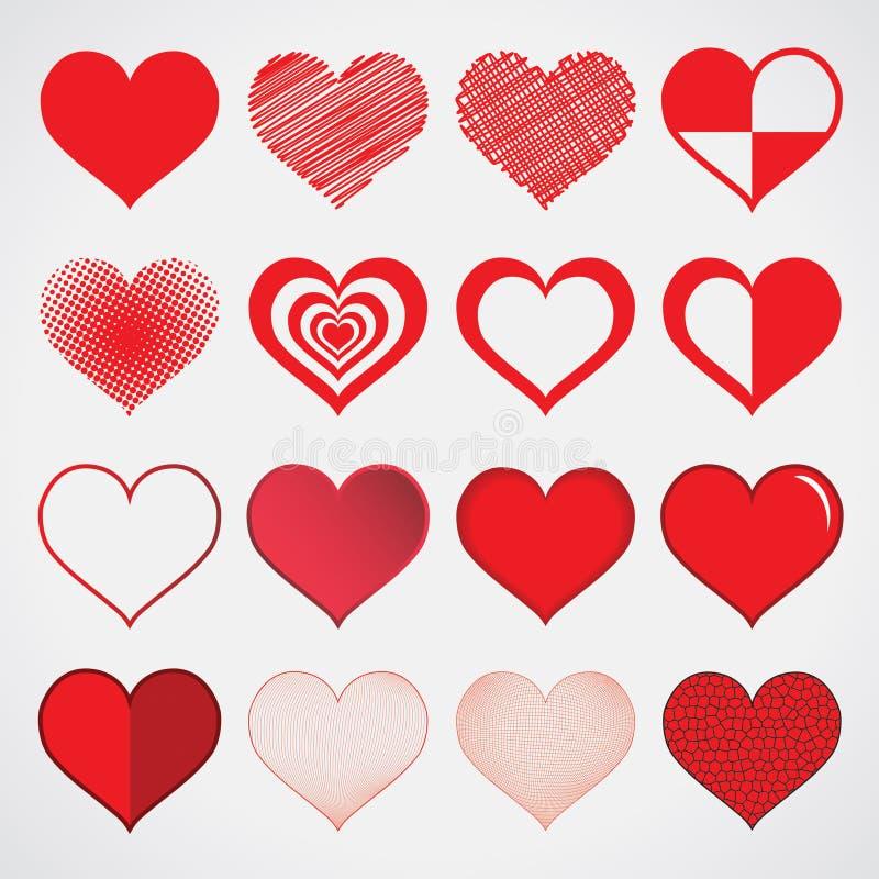 设计心脏在白色的传染媒介孤立 库存例证