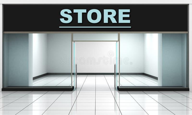 设计您空的eps10外部前介绍产品界面的商店窗口 库存例证