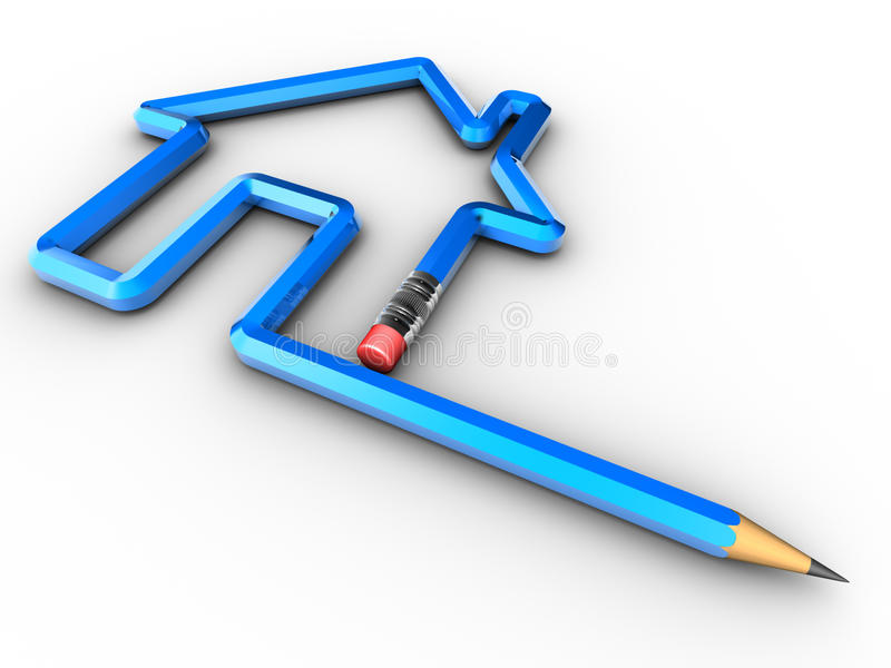 设计房子 向量例证