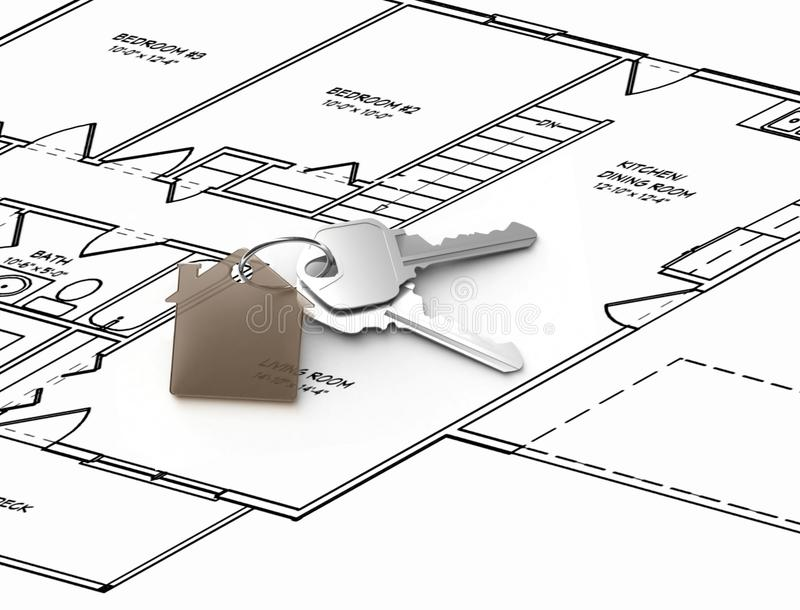 设计房子 库存例证