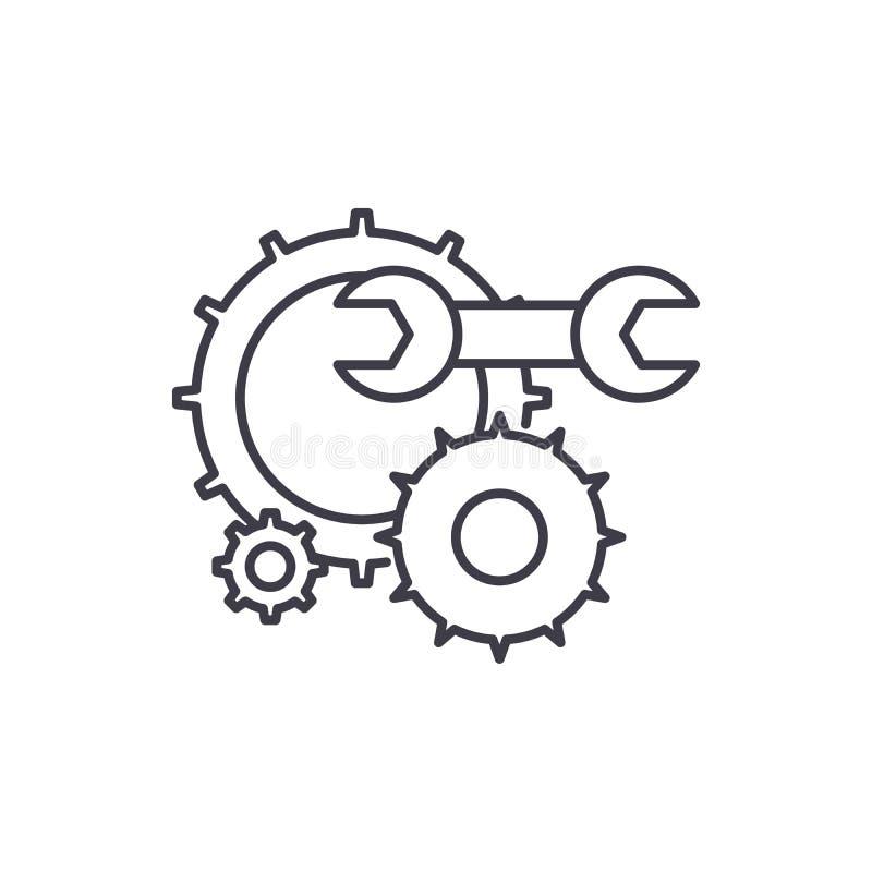 设计支撑线象概念 设计支持传染媒介线性例证,标志,标志 皇族释放例证