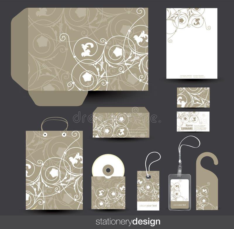 设计文教用品模板 向量例证