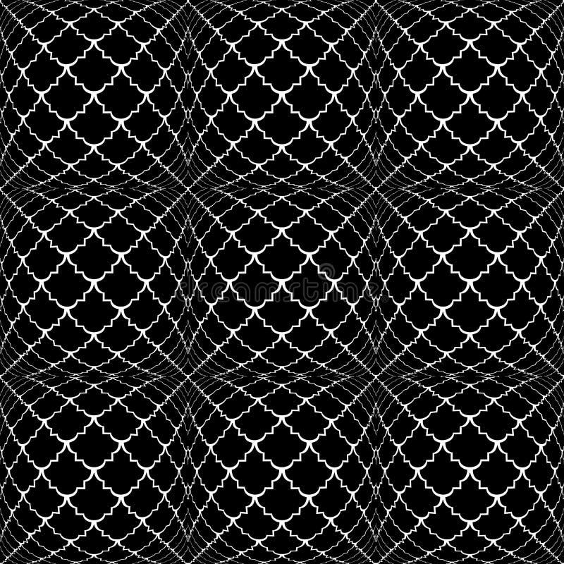 设计无缝的单色凸面样式 向量例证
