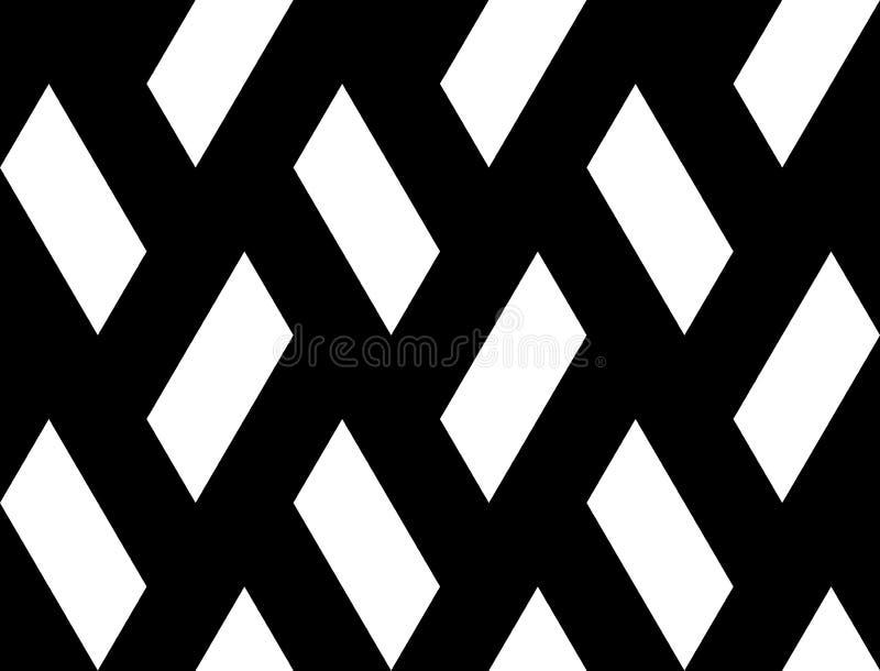 设计无缝的四边形几何样式 向量例证