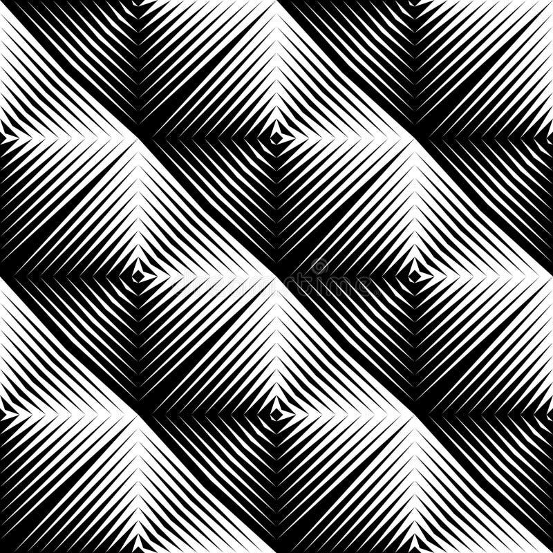 设计无缝的方形的凸面样式 向量例证