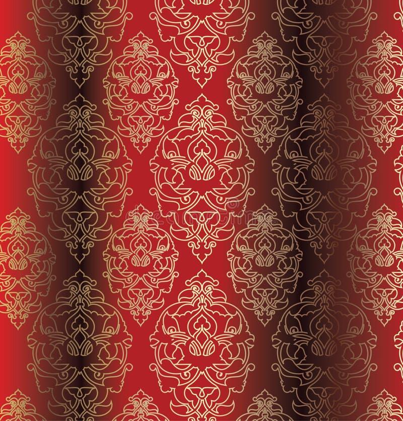 设计无背长椅无缝的传统土耳其 库存例证