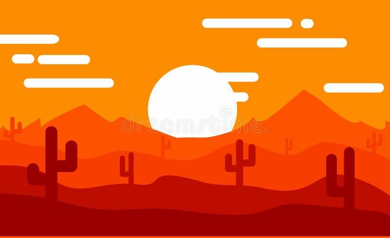 设计日出在沙漠 库存照片