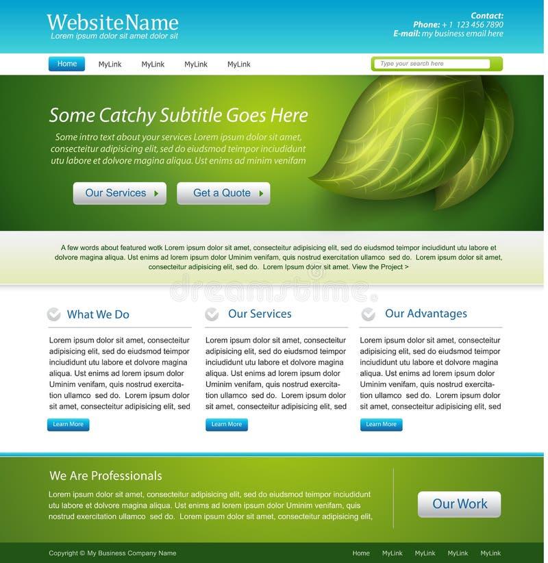 设计本质模板网站 库存例证