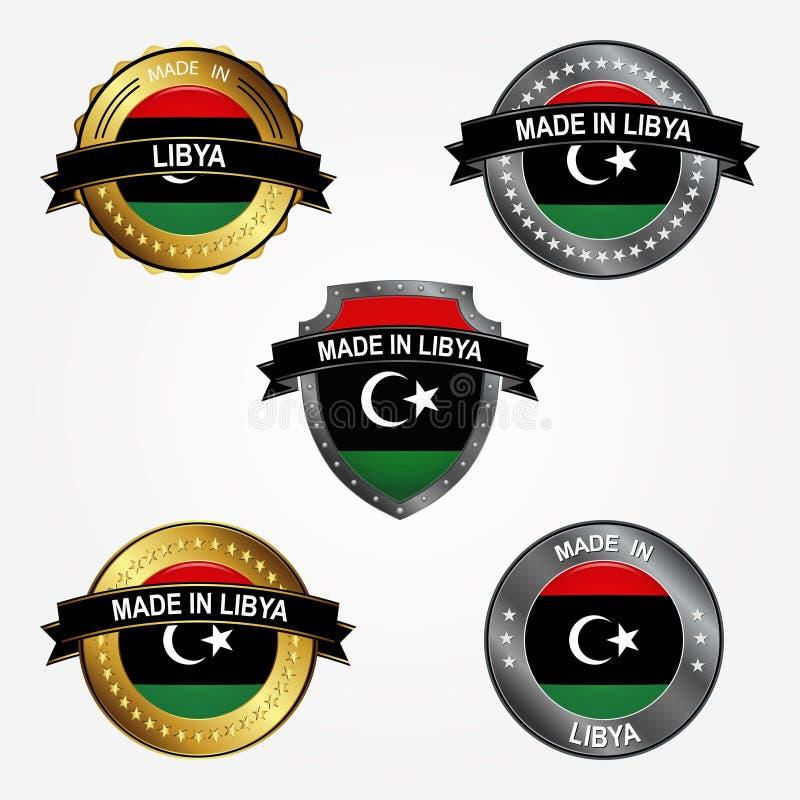 设计标签做在利比亚 也corel凹道例证向量 库存例证