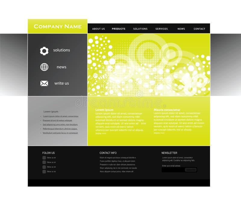 设计模板万维网 库存例证