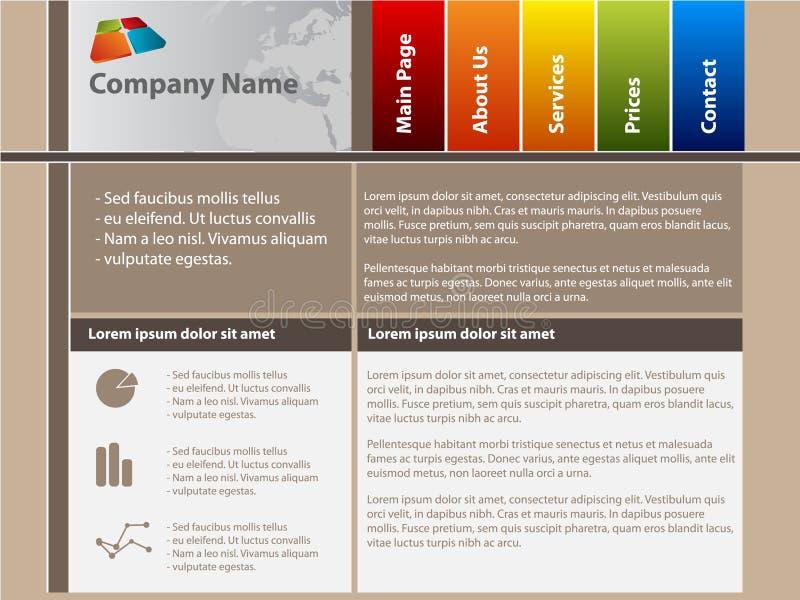 设计模板向量网站 向量例证