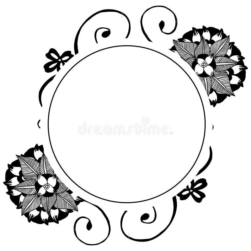 设计模板的抽象花卉框架装饰品边界 ?? 皇族释放例证