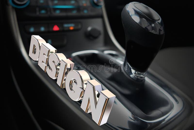 设计汽车内部齿轮搬移者推进样式 库存例证