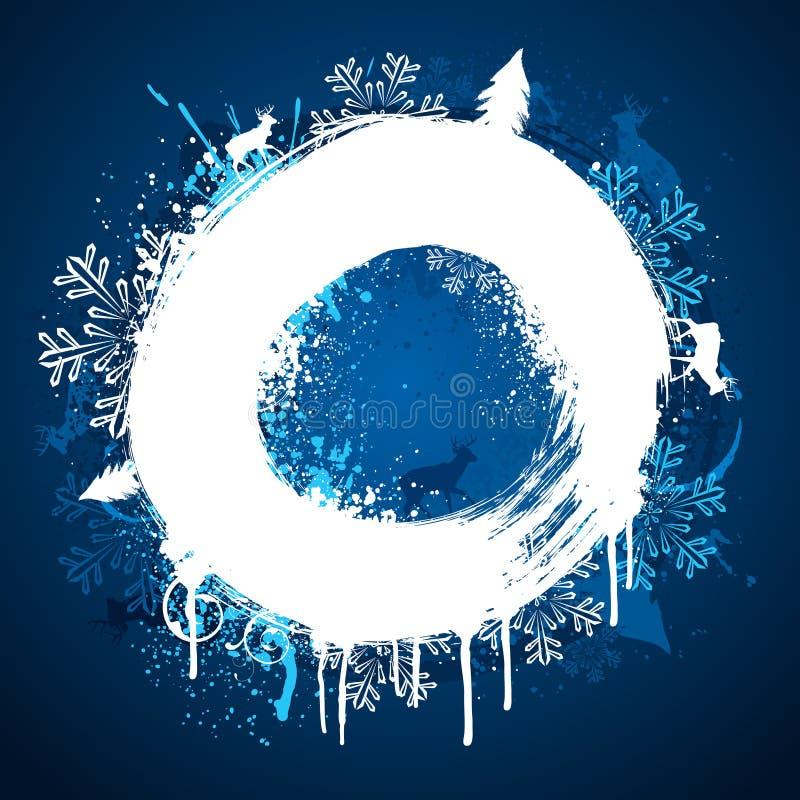 设计油漆环形冬天 向量例证